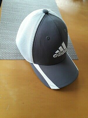 Adidas 2019 Mens A-Stretch Tour Golf Cap Breathable Mesh, grey & white, size S/M