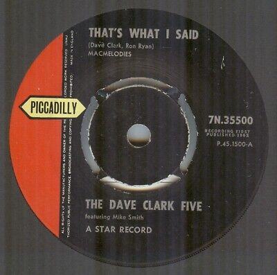 The Dave Clark Five**That's What I Said**Beat**Dancer**Hear It