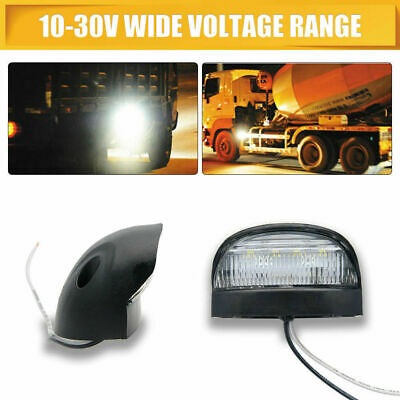 2XUniversal LED License Number Plate Light Lamps for Car Truck SUV Trailer Lorry