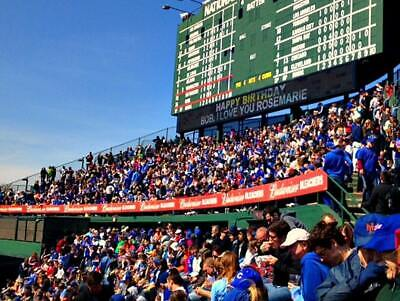 (2) Early Entry Chicago Cubs vs Milwaukee Brewers Tickets Bleachers  8/30/19