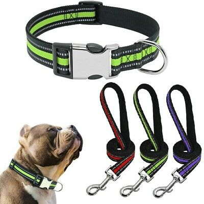 Pet Supplies Dog Harness Collar Leash Set Adjustable and Reflective Soft Nylon