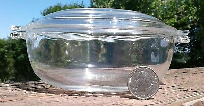 Pyrex Dish With Lid 019 20 oz Clear Glass Casserole Dish with Cover#  681