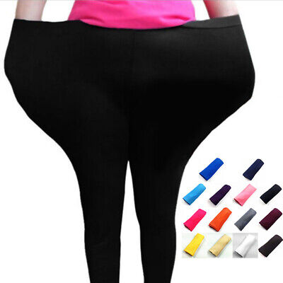 1PC Womens Skinny Long Leggings Stretchy Pants Pencil Trousers Plus Size
