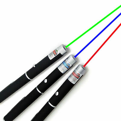 Portable 3PCS Laser Pen Green+Red+Blue Violet Mini Hiking Amazing Astronomy