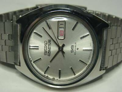 SEIKO 5 Actus Mn's Wrist Watch 6106C  Automatic Silver Dial Day and Date