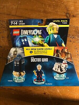 LEGO Dimensions Doctor Who Level Pack (71204) K-9 TARDIS New in Sealed Box 83 pc