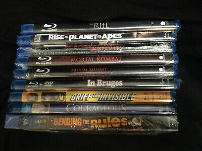 Lot of 9 Blu-ray Movies - Brand New Old Stock Sealed Unused (Lot #4)