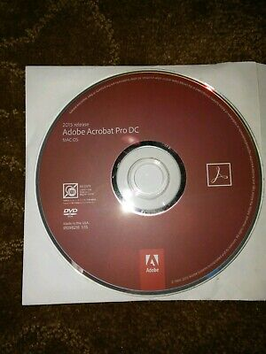 Adobe Acrobat Pro DC 2015 Mac OS, pre-owned, CD ONLY