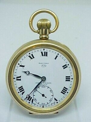 Beautiful Antique Record Rolled Gold Open Face Pocket Watch