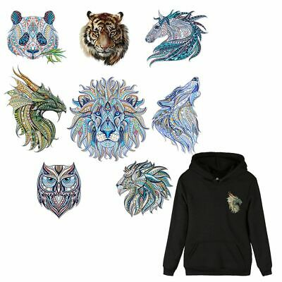 Cool Colorful T-shirt Heat Transfer 3D Animal Patch Ironing Sticker Applique
