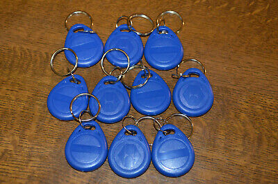10x Rewritable RFID 125kHz EM4305 T5577 Tags Key Fobs Keyfobs blue