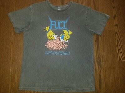 a734725a FUCT SSDD Brainwashed Vintage Men's Black T-Shirt - Brand New w/ Tags