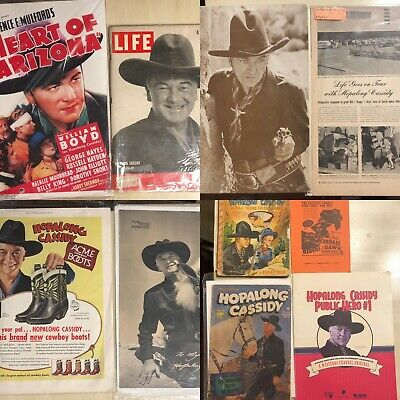 Lot of 10-Pc Vintage Hopalong Cassidy Books/Magazines William Boyd