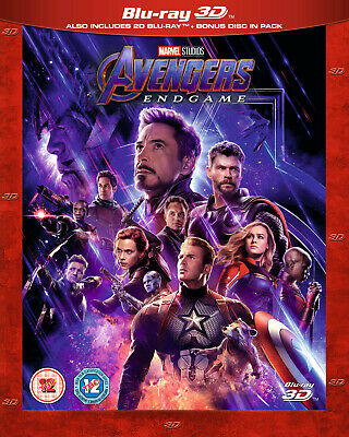 Marvel's AVENGERS: ENDGAME 3D + 2D Blu-ray IN STOCK WITH SLIPCOVER