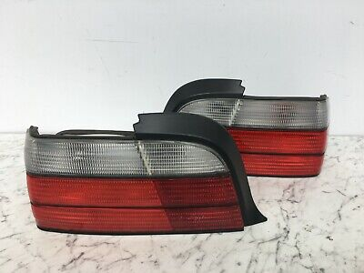 BMW E36 3 series M Sport Coupe / Convertible Clear Rear Lights PAIR x2
