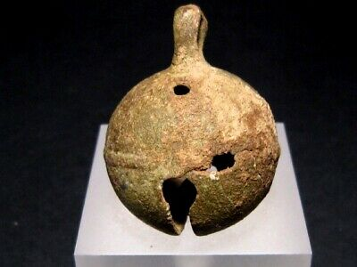 Beautiful Medieval Period Bronze Bell In Top Condition+++Top Patina+++