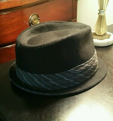 d9f0525c96f9 New! Men's Dickies Fedora Cap 50's Style Big Band Wise Guy Trilby Hat -S