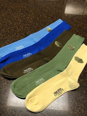 "Lot Of 5 Pair Vintage Anti-Static Dress Socks ""Will Not Cling Or Gather Lint""NOS"