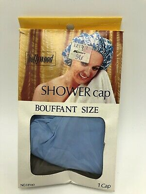 Vintage Hollywood Shower Cap Bouffant Size Blue