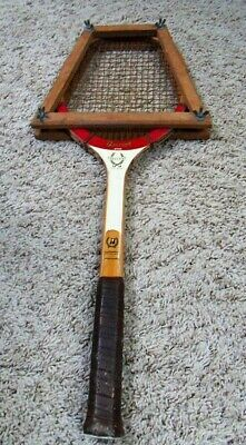 Vintage Bancroft Executive Glass Powered Hand Crafted Tennis Racket +Wood Press