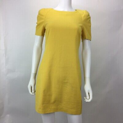 71a3d8fb Zara Woman Size S Shift Dress Women's Short Sleeve Padded Shoulders Back  Zipper