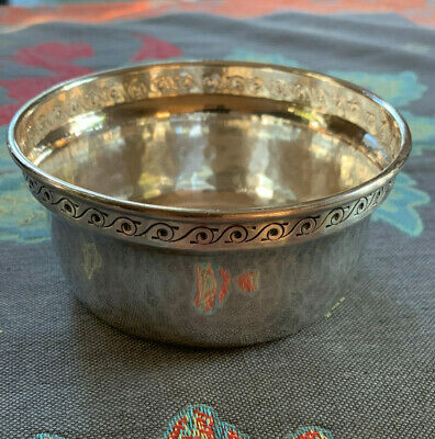 Liberty & Co. English Arts & Crafts Movement Childs Bowl 1926 Sterling Silver