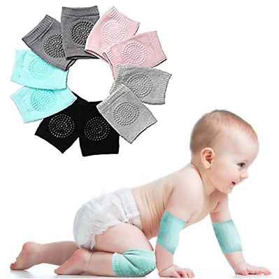BABY KNEE PADS UNISEX Infant Toddler Anti Slip Craw Protection Blue Pink Green