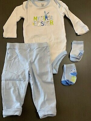 bff8c4292 BABY BOY CARTER'S Easter Dress Up Outfit with Suspenders Size 9 ...