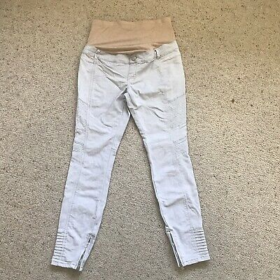 Jeanswest Maternity Crop Pants Jean Size 8/Light Grey