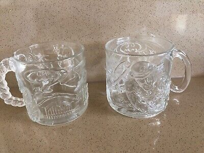 2 McDonalds Batman Forever Two-Face & The Riddler Cup - Excellent Condition 1995