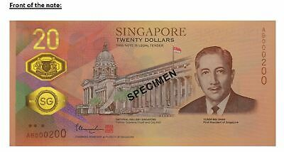 2019 Singapore Bicentennial $20 Commemorative Banknote with Folder