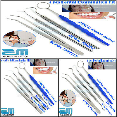 Dental Examination Kit Hygienist Instruments Tooth Care Tool Mirror Handle Probe