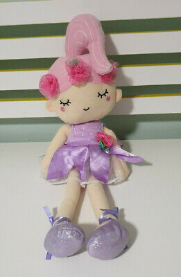 Fairy Rag Doll Kmart Toy Purple Outfit Flowers On Head 50Cm!