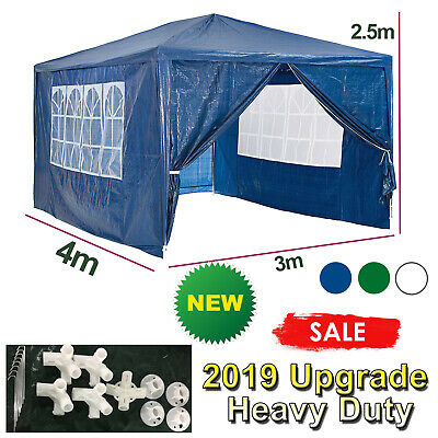 Upgrade 3x4 m PE Gazebo Garden Marquee Party Tent Canopy Heavy Duty Party Tent