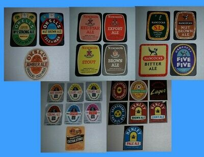 Bulk lot  25 x brewery beer different bottle labels Ales, Stouts & Lagers