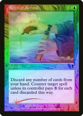 Rites of Refusal FOIL Odyssey PLD Blue Common MAGIC GATHERING CARD ABUGames