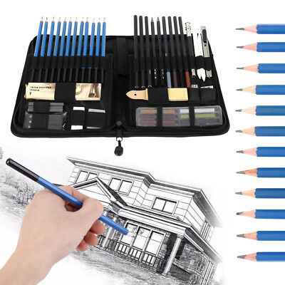 48pcs Professional Drawing Sketching Sketch Pencil Set Student Artists Tool Sets