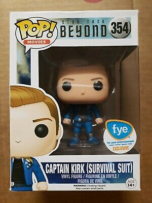 Funko Pop captain Kirk survival suit star trek beyond FYE exclusive