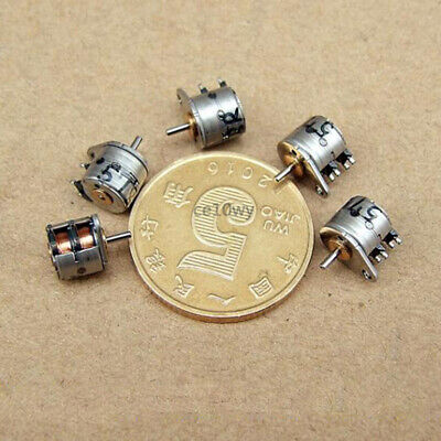 2x 6mm Stepper Motor 2 phase 4 wire 0.8mm Shaft Micro Electric Motor for DIY