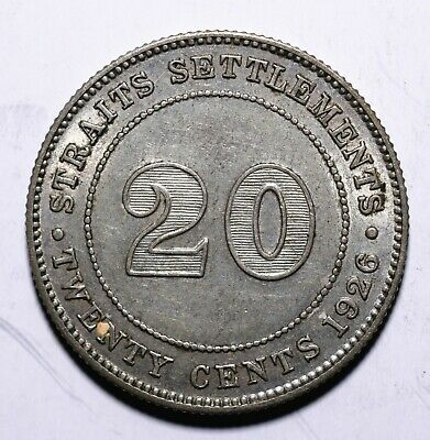 1926 Straits Settlement  Twenty 20 Cents - George V - Lot 683