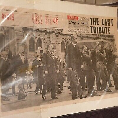 Sir Robert Menzies Funeral - Newspaper Cover - The Sun, May 20th 1978