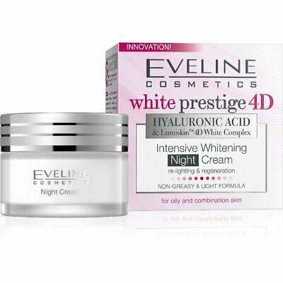 Eveline WHITE PRESTIGE 4D Whitening & Regenerating Night Cream All Skin 50ml