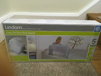 Lindam Easy Fit Bed Guard Blue New In Box