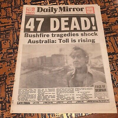 Ash Wednesday - Newspaper Cover - Daily Mirror Feb 17th 1983