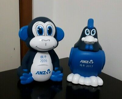 Anz Year of the Monkey 2016 & Year of the Rooster 2017 Money Boxes