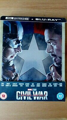 Captain America Civil War 4K & 2D Steelbook Zavvi Exclusive. Dent - PLEASE READ