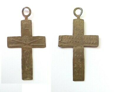 Аncient Artifact ANTIQUE Bronze Orthodox Crucifix Cross Kievan Rus Middle Ages
