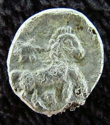 Ancient Celtic Coin Silver Quarter Stater BELLOVAQUES - Beauvais c. 100 BC (m62)