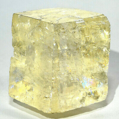 "2.2"" Optical Calcite Crystal Natural Sparkling Double Refractive Mineral Brazil"