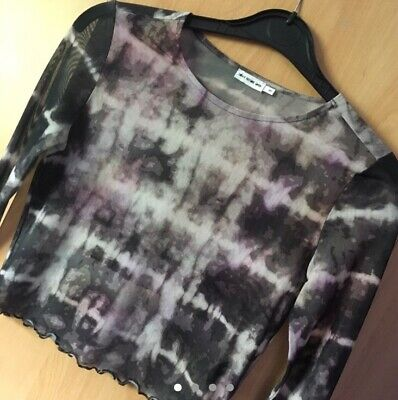 db73343ffbe LIGHT BEFORE DARK Urban Outfitters Top Sweater Black With Floral ...